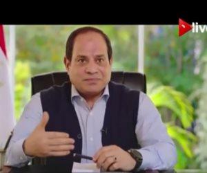 """السيسي يجيب على تساؤلات المصريين في حوار """"شعب ورئيس"""".. الرئيس يرد بشأن حرية الرأي والتعبير.. ويتحدث عن التعليم والمعاشات والمشروعات القومية (فيديو)"""