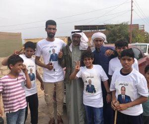 مشايخ و عواقل قبيلتي المزينة والترابين بنويبع ينظمون مسيرة بالسيارات لدعم وتأييد السيسي (صور)
