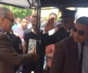 رؤساء الهيئات القضائية والنائب العام في طابور لجان الاستفتاء (صور وفيديو)