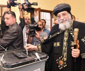 أعضاء اللجنة الوطنية للانتخابات في حضرة البابا تواضروس (صور)