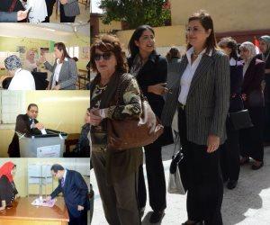 وزيرة التخطيط: العملية الانتخابية تسير بشكل منظم وحضاري