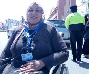 بطلة رفع الأثقال للمعاقين ببورسعيد: على المواطنين المشاركة في الانتخابات (فيديو وصور)