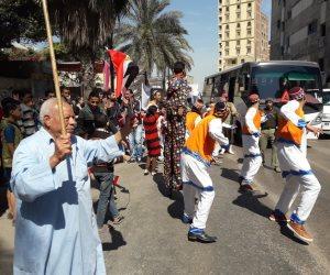 على الأغاني النوبية.. أهالي العجمي يشاركون في ماراثون الانتخابات الرئاسية (صور وفيديو)