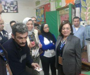 وفد حقوق الانسان: الانتخابات منتظمه ولا يوجد أي مخالفات (صور وفيديو)