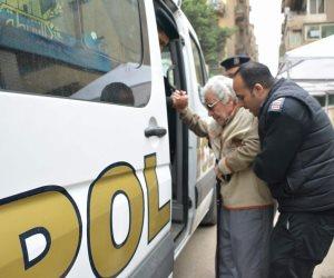 الشرطة تستجيب لنقل مواطن للإدلاء بصوته في الانتخابات الرئاسية