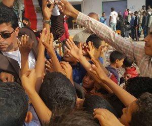 أبناء قبيلة الرياشات بالشيخ زويد يسيرون على أقدامهم مسافات طويلة للمشاركة بانتخابات الرئاسة