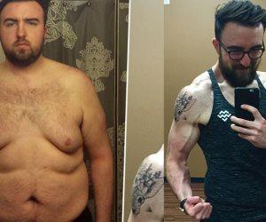 صارع مع حلمه وفقد نصف وزنه .. شاب  يفقد 65 كجم باتباع نظام غذائى وممارسة الرياضة