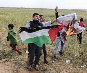 استشهاد فلسطينيا وجرح العشرات بعد اعتداء قوات الاحتلال على مسيرة بيوم الأرض (صور)