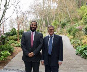 محمد بن سلمان يلتقى بيل جيتس في أمريكا