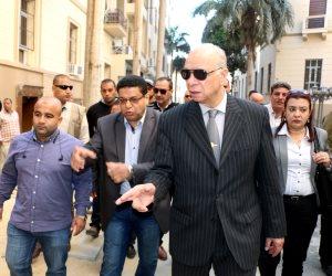 محافظ القاهرة يتابع أعمال تطوير «القاهرة الخديوية» في منطقة البورصة