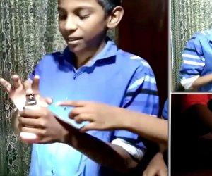 «على ايده ينور..على ضهره ينور».. طفل يوصل الكهرباء بجلده (فيديو)