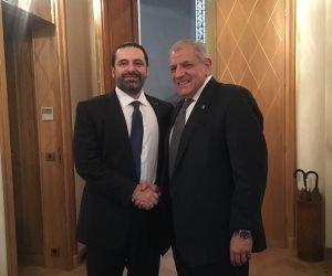 محلب يلتقي سعد الحريري في باريس.. ويؤكد: مصر مستعدة لنقل خبراتها لدعم لبنان
