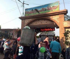 توافد الأهالي على الحدائق والمنتزهات بدسوق والرحلات النيلية بكفر الشيخ (صور)