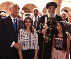 10 صور ترصد لقاء البابا تواضروس مع رئيس البرتغال في الكاتدرائية