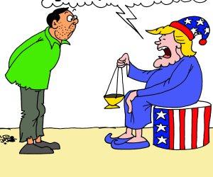 صواريخ ذكية تجلب لك الديمقراطية: «زي التجربة العراقية» (كاريكاتير)