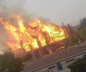النيابة تنتهى من معاينة حريق المتحف المصرى الكبير والشهود يروون تفاصيل الحادث