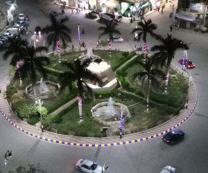 ميدان المديرية لوحة فنية مضيئة داخل مدينة بني سويف (صور)