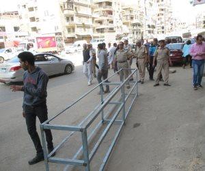 حملة مكبرة تغزو شوارع طلخا لرفع الإشغالات فى الدقهلية (صور)