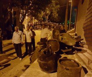 قصة هروب الأهالي بعد انفجار سيارة أسطوانات بوتاجاز في أبنوب بأسيوط (صور)