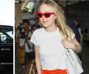 الشقيقتان «داكوتا وإيل فانينغ» في إطلالة جذابة بمطار لوس أنجلوس (صور)