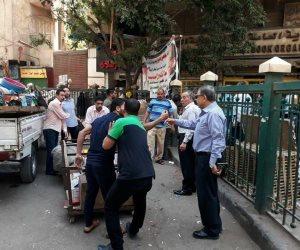 حملة مكبرة لإخلاء ميدان الجيزة من الباعة الجائلين (صور)