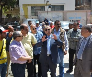 محافظ الإسماعيلية يتفقد أعمال تطوير ميدان مصطفى كامل