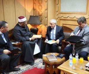 وكيل الأزهر يلتقى رئيس اتحاد المؤسسات الإسلامية بالبرازيل