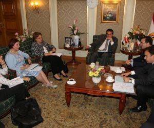 وزير التعليم العالى يستقبل السفير الفرنسى بالقاهرة