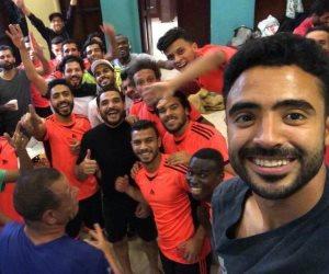 لاعبو المقاصة يحتفلون بعيد ميلاد هاني سعيد (صور)