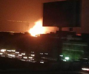 حريق هائل في سوق الخضار ببولاق الدكرور