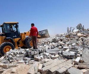 حملة مكبرة تسترد 21 فدانا خاصة بآثار الإسكندرية ( صور )