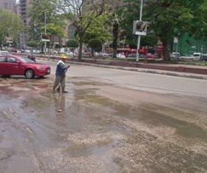 محافظ الجيزة : الانتهاء من ازالة وشفط المياه من الشوارع الرئيسية