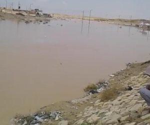 سيول وسط سيناء تغمر سد «الكرم».. وتروي 400 فدان بـ«أرض الفيروز» (صور)
