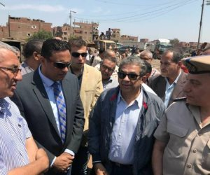 وزير البيئة يتفقد أعمال نقل مخلفات مقلب أبو خريطة بشبين الكوم (صور)