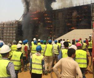 النيابة الإدارية تبدأ التحقيق فى حريق المتحف الكبير بالهرم