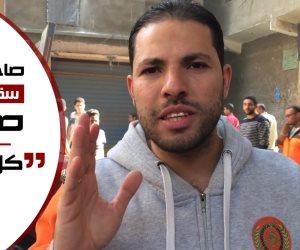 من قلب الموت.. صاحب محل الأيس كريم نجا بأعجوبة من سقوط أوتوبيس صفط (فيديو وصور)