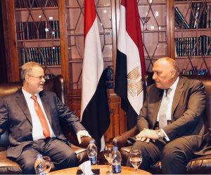 شكري لوزير خارجية اليمن: متلزمون بدعم استقرار بلادكم والحل السياسي للأزمة