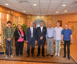 جامعة المنصورة تستقبل وفدا لطلاب جامعة فيليكو ترنوفو