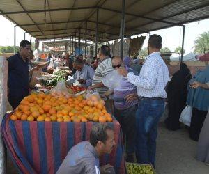 رئاسة مركز الخارجة توفير خضروات وفاكهة بأسعار مخفضة للمواطنين (صور)