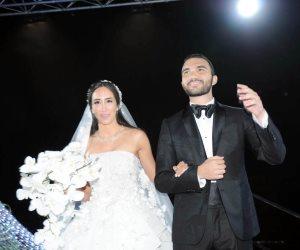 الوزراء ونجوم الفن والمشاهير يحتفلون بزفاف «عادل صدقي» و«ملك كيرة» (صور)