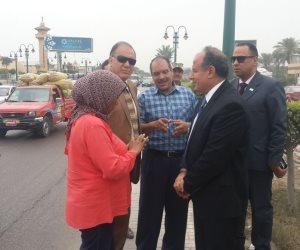 محافظ الإسكندرية يشدد على تجميل وتشجير مدخل الطريق الصحراوي (صور)