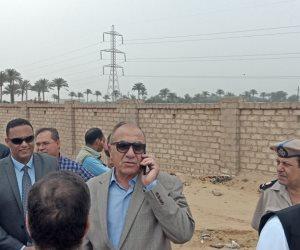 وزير التنمية المحلية يتفقد المدفن الصحى بمدينة السادات بالمنوفية (صور)