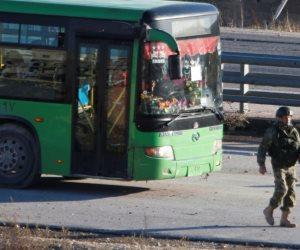 سانا: دخول حافلات إلى مدينة الرستن السورية لإخراج الإرهابيين من ريفى حمص وحماة