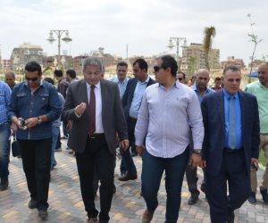 وزير الشباب يوجه ببدء التشغيل التجريبي لإنشاءات النادي الإسماعيلي (صور)