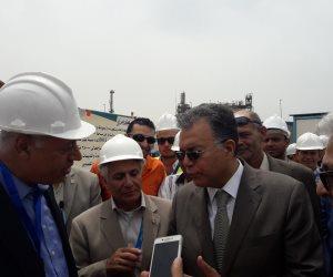 وزير النقل يتابع أعمال إنشاء محطة الصب السائل بميناء الدخيلة بتكلفة 50 مليون جنيه (صور)