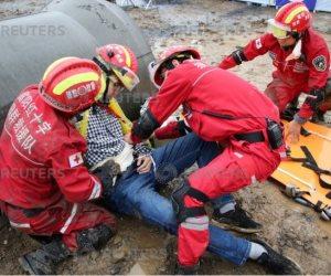 رجال الإنقاذ فى الصين يحيون الذكرى العاشرة لزلزال «سيتشوان» المدمر (صور)