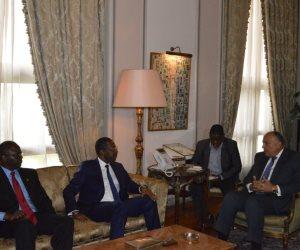 وزير الخارجية يستقبل رئيس الجمعية الوطنية البوركيني لبحث التعاون ضد الإرهاب