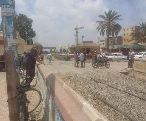 انتظام حركة القطارات بالسنطة بعد الإصلاحات نتيجة خروج قطار عن القضبان أمس