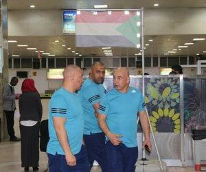 صور.. وصول بعثة المصري إلى الخرطوم لمواجهة الهلال بالكونفدرالية