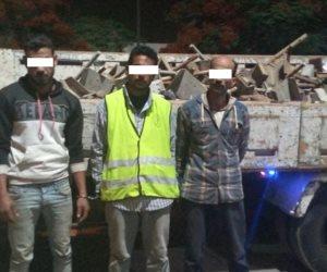 القبض علي المتهمين بسرقة خامات إنشاء كوبري حلوان الجديد